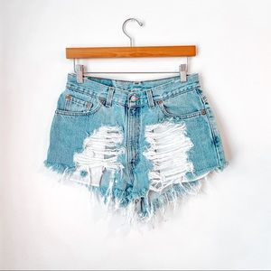 Vintage Levi's 512 Distressed Cut Off Shorts
